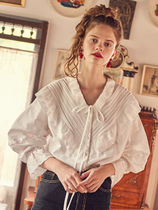 VITALSIGN☆Lace Frill White Blouse