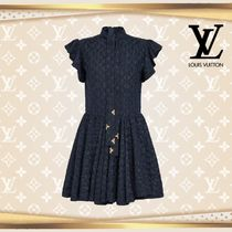 LOUIS VUTTON▼直営店▼High-Neck Damier Dress In Technical