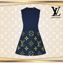 LOUIS VUTTON▼直営店▼Sleeveless A-Line Dress In Wool-Silk