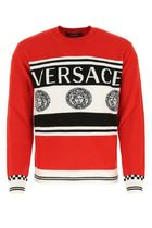 Versace ♠ Embroidered wool sweater