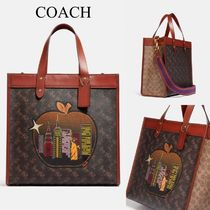 【完売必須】COACH*Field Tote*Big Apple Skyline*NYモチーフ