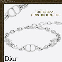"Dior◆COFFEE BEAN ""CD ICON"" チェーン リンク ブレスレット"