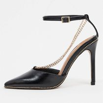 ASOS DESIGN Priscilla pointed high heels with chain