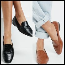 ASOS DESIGN Wide Fit Mindy flat loafers