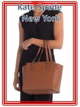 関税送料込 kate spade new york Jackson Leather Medium Tote