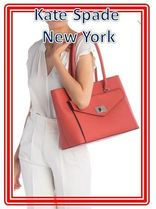 関税送料込 kate spade new york post street halsey tote bag
