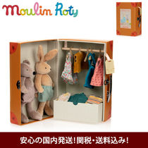 Moulin Roty 着せ替え人形 ワードローブセット うさぎ&クマ