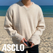 Reo Overfit Lambswool V Neck Knit (5color)