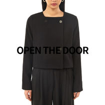 OPEN THE DOOR square double button jacket