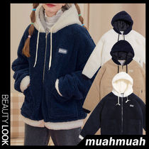 【muahmuah】Twotone Combi Fleece Jacket 3色★ジャケット