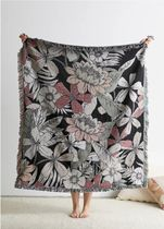 Urban Outfitters floral Woven Blanket ブランケット スロー