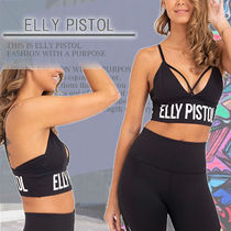 ★ELLY PISTOL★KNOCKOUT TOP スポーティ ロゴ入り トップス