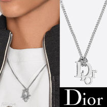 Dior▼【直営 正規品】DIOR OBLIQUE ペンダント ネックレス