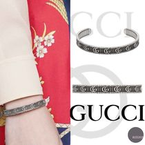 ■GUCCI■Bracelet with Double G in silver■バングル