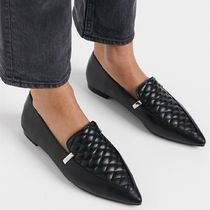 ASOS DESIGN Licorice quilted loafer ballet flats