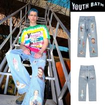 [YOUTHBATH] Graphic Film Denim Pants ★男女★人気
