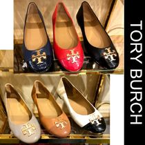 Outlet買付【Tory Burch】Tロゴ★Everly Cap Toe Balletシューズ