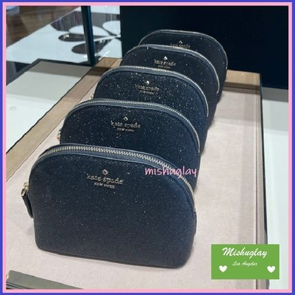kate spade new york ポーチ 【kate spade】キラキラグリッターポーチ★small dome cosmetic(6)