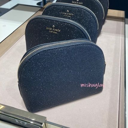 kate spade new york ポーチ 【kate spade】キラキラグリッターポーチ★small dome cosmetic(7)