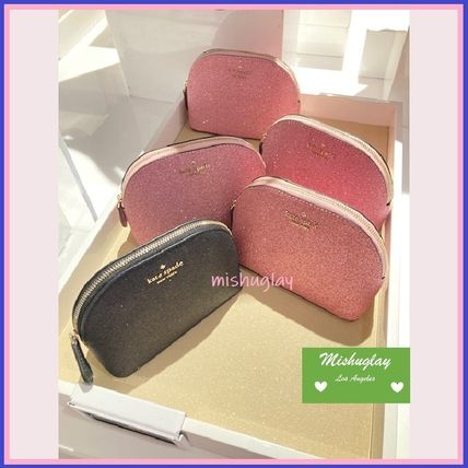 kate spade new york ポーチ 【kate spade】キラキラグリッターポーチ★small dome cosmetic(5)