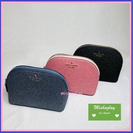 kate spade new york ポーチ 【kate spade】キラキラグリッターポーチ★small dome cosmetic