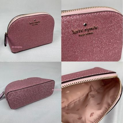 kate spade new york ポーチ 【kate spade】キラキラグリッターポーチ★small dome cosmetic(3)