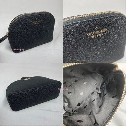 kate spade new york ポーチ 【kate spade】キラキラグリッターポーチ★small dome cosmetic(4)
