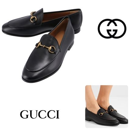 【GUCCI】JORDAAN  LEATHER LOAFERS