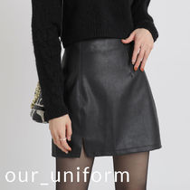 [our] Eden Leather Mini Skirt (3color)