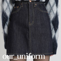 [our] India Denim Mini Skirt