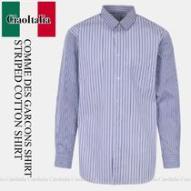 COMME DES GARCONS SHIRT STRIPED COTTON SHIRT