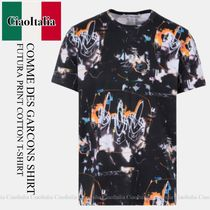 COMME DES GARCONS SHIRT FUTURA PRINT COTTON T-SHIRT