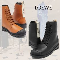 **Loewe**ロエベ★ Logo-trim leather boots