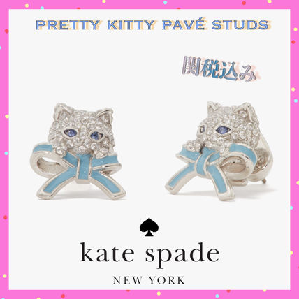 Kate Spade★NEW★Pretty Kitty Paveスタッズ ピアス/ギフトにも