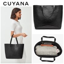 【CUYANA】大人気●クロコ柄●Classic Structured Leather Tote