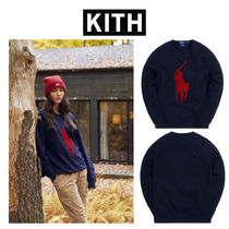 KITH POLO RALPH LAUREN DOUBLE KNIT CREWNECK ラルフローレン