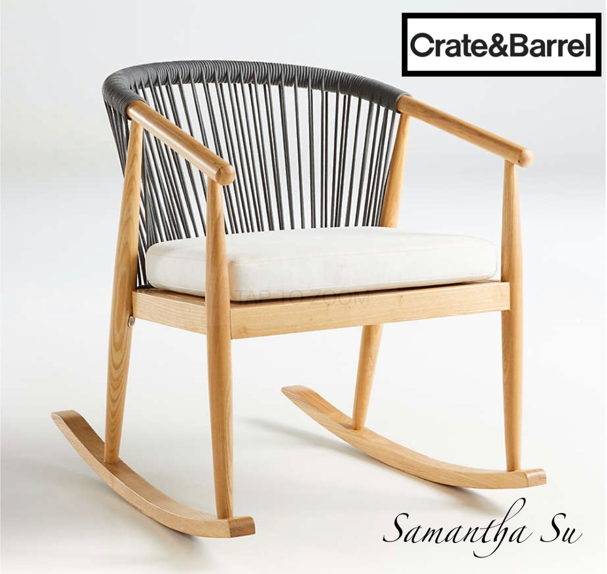 【Crate and Barrel】高級家具★ロッキングチェア (Crate & Barrel/椅子・チェア) 61223312