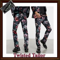 Twisted Tailor スーツパンツ単品☆花柄ベロア(送関込み)