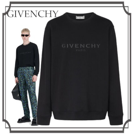 2020AW GIVENCHY☆3D sul petto Logo☆SWEATSHIRT☆men's☆Black (GIVENCHY/スウェット・トレーナー) BMJ07Z30AF-001