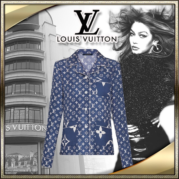 LOUIS VUITTON 直営店 トップス LV エスカル パジャマ 青 (Louis Vuitton/ルームウェア・パジャマ) 1A7SF4