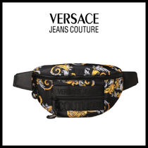 【Versace Jeans Couture】バロック柄 ナイロン ベルトバッグ