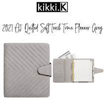 【kikki.K】2021 A5 QUILTED SOFT TOUCH TIME PLANNER GREY