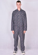 VYNER ARTICLES 1A20 FLOWER PRINT CANVAS COVERALL