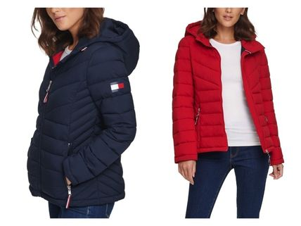 Tommy Hilfiger Hooded Packable Pufferダウンジャケット