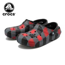 ☆crocs CLASSIC LINED PLAID CLOG RED/BLK 国内発送 正規品!