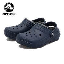 ☆crocs キッズ CLASSIC LINED CLOG K NAVY 国内発送 正規品!