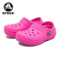 ☆crocs キッズ CLASSIC LINED CLOG K PINK 国内発送 正規品!