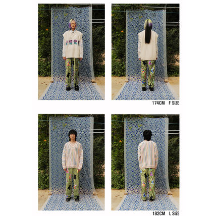 YOUTHBATH パンツ ★YOUTHBATH★VELOUR GRAPHIC PANTS_KHAKI★正規品/韓国直送料込(9)