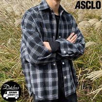 ASCLO Wide Check Shirt Jacket YJ775 追跡付