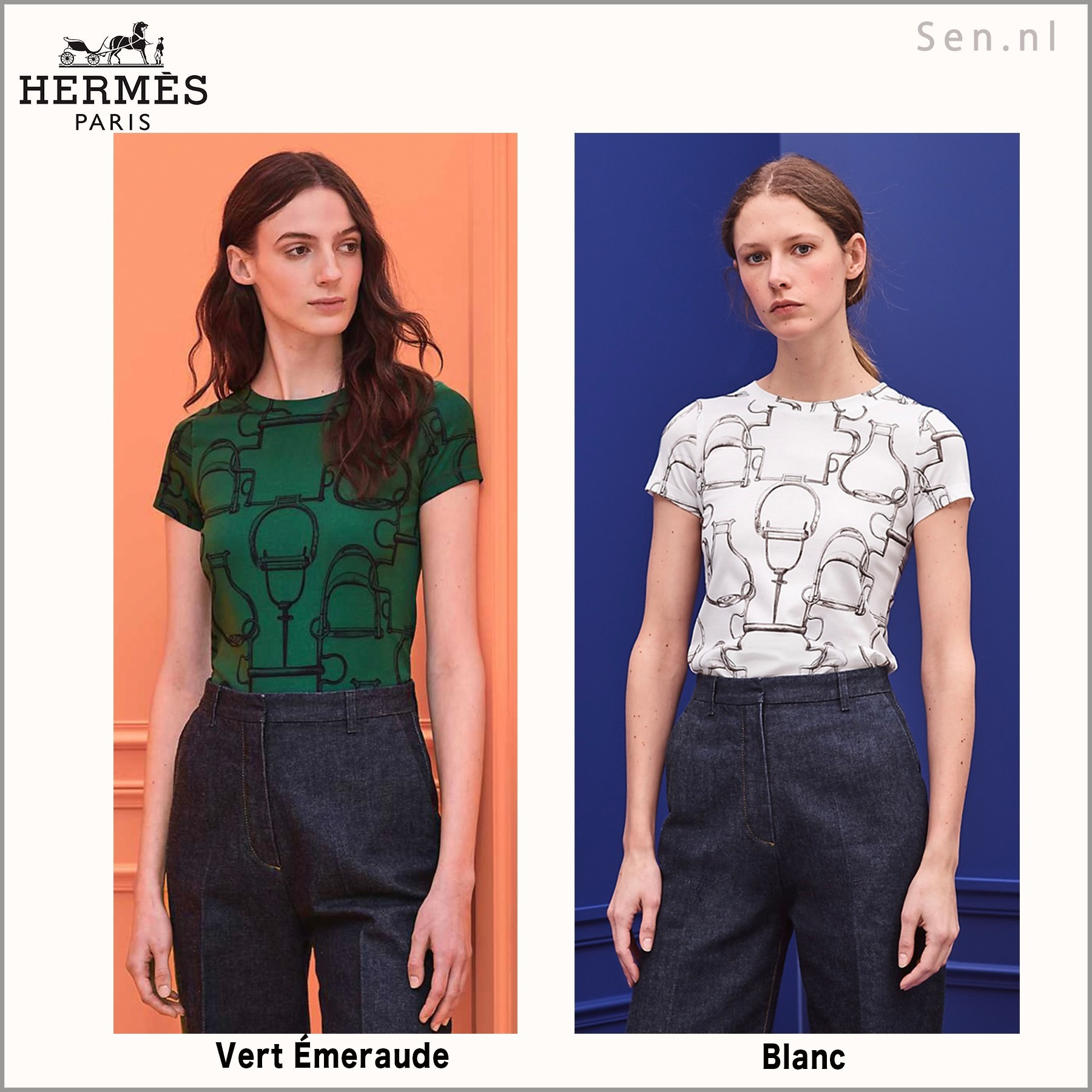 HERMES(エルメス) Tシャツ《Projets Carres》2020AW (HERMES/Tシャツ・カットソー) 61277335